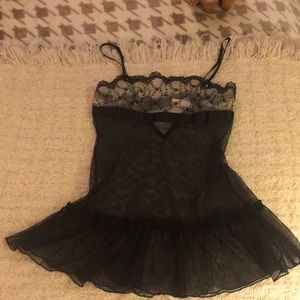 Xsmall Victoria's Secret Black nighty used